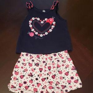 Toddler Girls Shorts Set Size 24M
